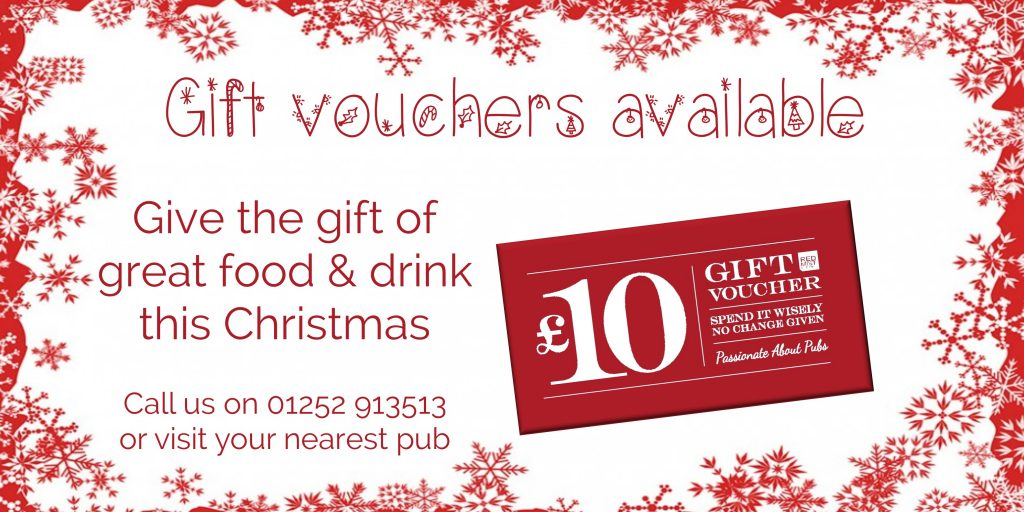 Stocking filler gift vouchers