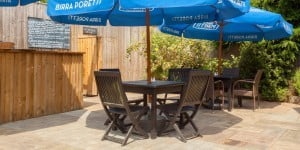 Patio area at The Exchequer
