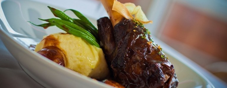 Spring Recipe: Braised lamb shank with minted gravy